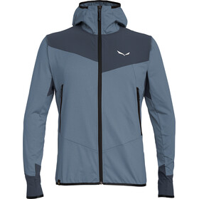 Salewa Agner Hybrid Polarlite/Durastretch Full Zip Hoody Men Flint Stone Melange